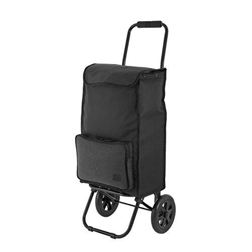 Rada Einkaufstrolley ER/1 40 Liter, robuster Marktroller, Einkaufswagen, Handwagen, mit 2 Rollen, wasserabweisender Transportwagen mit großen Rädern, (grau schwarz)