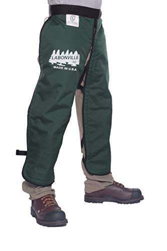 LABONVILLE Premium Chainsaw Chaps - Overall Length 36' - Made in USA - Green