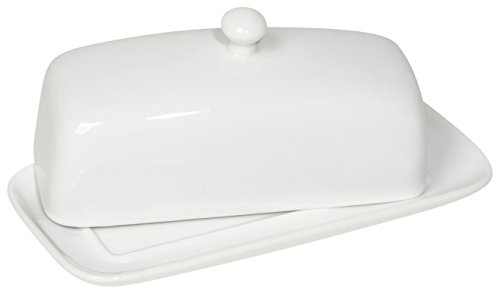 Now Designs Butter Dish, White by Now Designs
