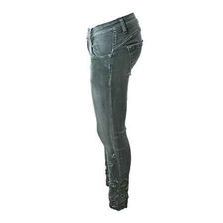 Mozzaar New Brand Pant Skinny Jeans Röhre Miss Push Up Grün
