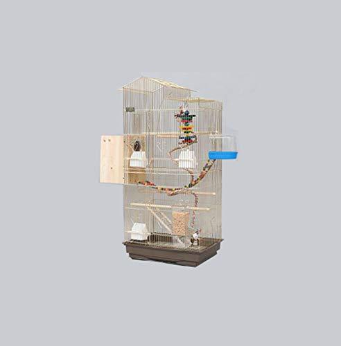 Gabbia per uccelli in metallo dorato, per cockatiels, monaci, parrocchetti, parrocchetti, ecc. 47.5*36*100CM d