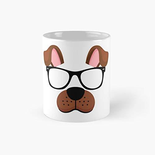 Taza clsica con diseo de perro minimalista y diseo de perro   El mejor regalo divertidas tazas de caf de 325 ml