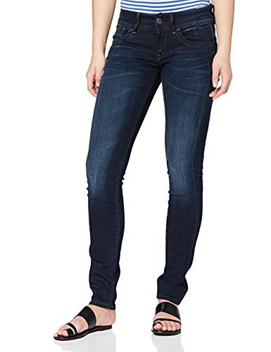 G-STAR RAW Damen Jeans Lynn Mid Waist Skinny Jeans, Blau (Medium Aged 6131-071), 31W / 30L