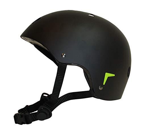 Dynamic24 Kinder Skaterhelm Gr. S 48-54cm Fahrrad Helm BMX Skateboard Schutzhelm schwarz matt