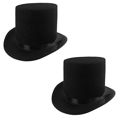 Rhode Island Novelty Deluxe Black Magician Butler Formal Costume Top Hat, One Per Order