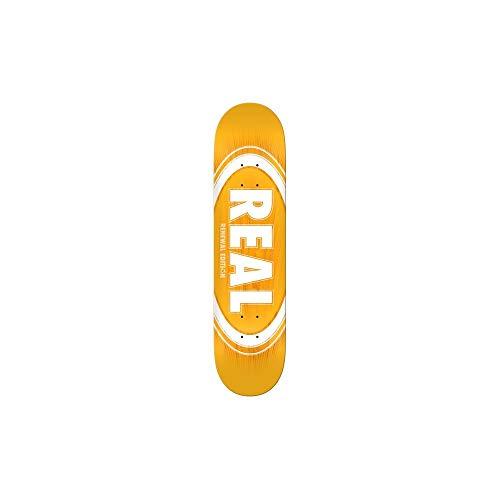 Real Skateboard Deck Ovale Burst Fade Giallo 20,6 cm