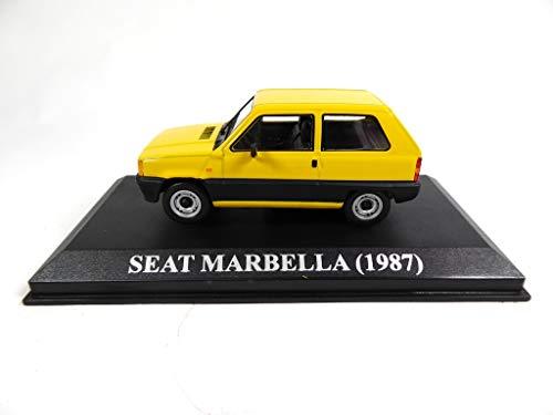 OPO 10 - Coche 1/43 Compatible con Seat Marbella 1987 Amarillo (RBA51)