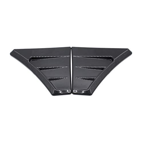 Walmeck EIN Paar glänzende Schwarze Flügelschlitze als Ersatz für den Focus RS MK2 Style