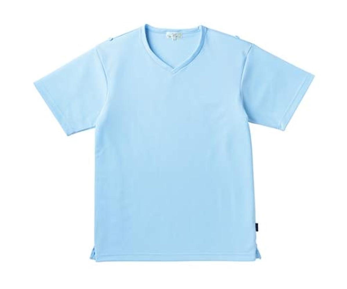 ワークショップ別れる区別トンボ/KIRAKU 入浴介助用シャツ CR160 S サックス
