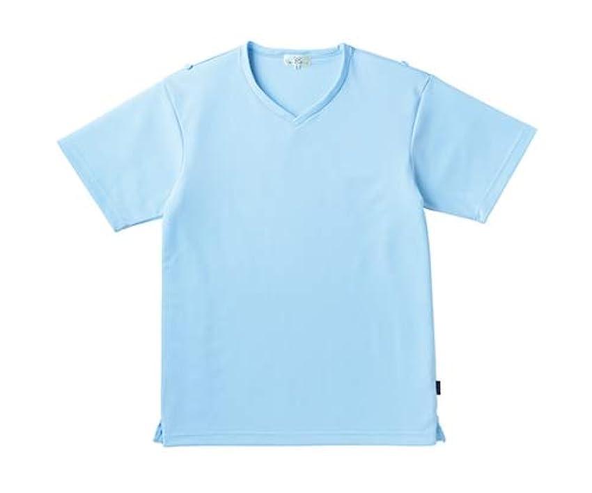 落胆するつかいますセグメントトンボ/KIRAKU 入浴介助用シャツ CR160 L サックス