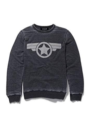 Recovered Marvel Capitán América Icon - Sudadera de carbón
