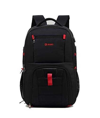 Business Backpack, 17 Inch Laptop Backpack with USB Port, Waterproof Work Backpack, Backpacks for Lightweight Laptops, 6, Black, size