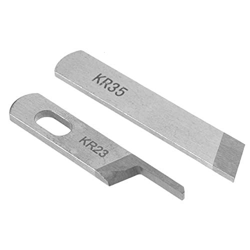ZHONGJIUYUAN Juego de 2 piezas KR23 y KR35 cuchillo/cuchilla, industrial Serger/Overlock piezas de la máquina de coser, para JUKI, Siruba, Pegasus, Jack.