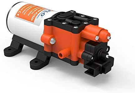 lighteu®, Seaflo DC 12V 5LPM 6,9 Bar Bomba de diafragma de presión de Agua de 2 cámaras, 22 s, para Uso marítimo, Barcos, Yates, caravanas, Jardines.