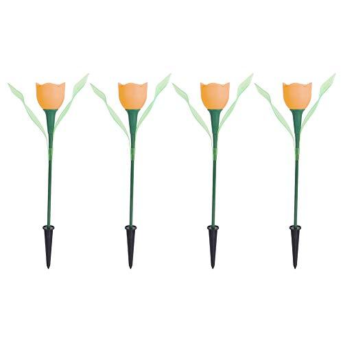 AMONIDA Lámpara para césped, luz LED de luz Suave de Alta eficiencia de conversión, para Bodas, comedores, familias, terrazas, Ventanas, Jardines, Fiestas de cumpleaños(Orange)