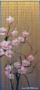 Tenda per porta, in bambù, circa 90 x 200 cm, motivo floreale