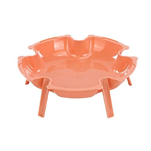 Batchelo Juego de platos para postre y platos creativos para el hogar, se pueden superponer en platos de cocina caliente, bandeja de frutas vegetales, platos pequeños, bandeja de, color rosa