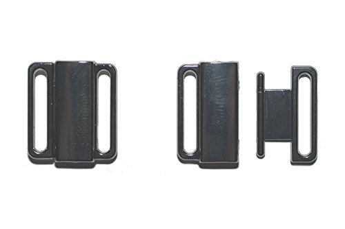 dalipo 14001 - Bikini-Verschluss, 2 Paar, Metall, 15mm