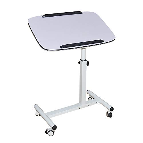 NOVII Mobile Laptop Computer Desk Cart, Angle & Height Adjustable Cost-Effective Rolling Workstation, Sofa/Bed Side Table Stand, That Also Works Great...