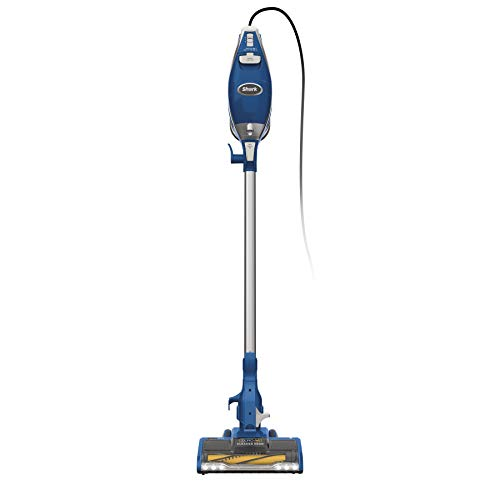 Shark Rocket HV343AMZ Self-Cleaning Brushroll Corded Stick Vacuum Lightweight, Pet Hair Pickup, with Crevice and Upholstery Tools, Blue