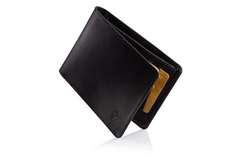 NEU: ETAVI ® Leder Geldbörse Tallinn [12-14 Karten] Slim Wallet mit Münzfach [RFID-Schutz] Portemonnaie flach für Herren Damen Männer Portmonee