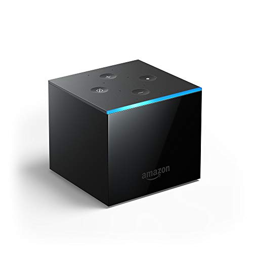 All-new Fire TV Cube, hands-free with Alexa built in, 4K Ultra HD, streaming media player, released 2019