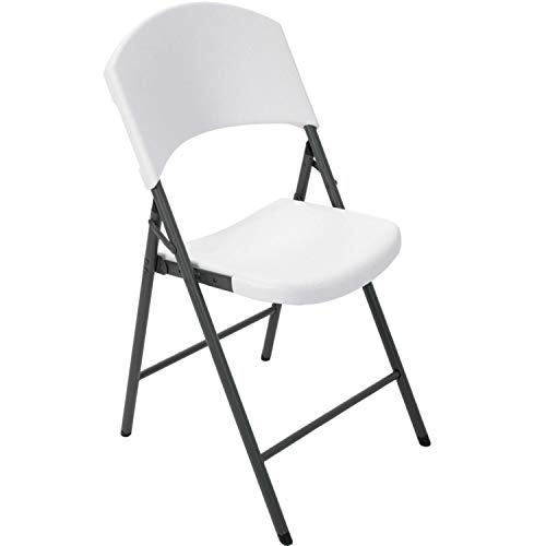 Lifetime Products Contoured Folding Chair, White