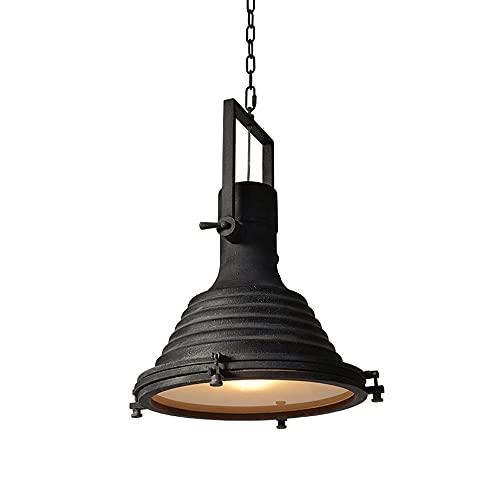 Wmdtr Araña Industrial Negra Retro Vintage Colgando iluminación de Techo E26 Luz de Metal Accesorio para Cocina, Granja, Restaurante, cafetería, Granero, Bar, Corredor