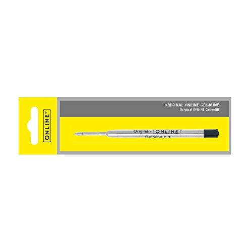 Online 40045/3 - Gel-Mine, Strichstärke 0,7 mm Schreibfarbe schwarz, ISO 12757-2 DOC, 1 Stück