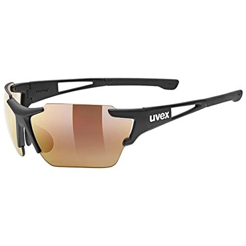 uvex Unisex– Erwachsene, sportstyle 803 race CV V Sportbrille, kontrastverstärkend, selbsttönend, black mat/red, one size