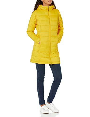 Amazon Essentials Lightweight Water-Resistant Packable Puffer Coat Abrigo Alternativo al plumón, Amarillo,...