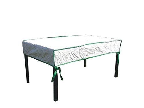 housse de protection pour table de jardin rectangulaire excl. de Tyvek - avec sac de stockage - dimensions: 300cm x 100cm x 15cm