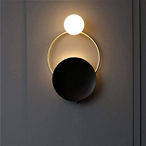 CMMT Lámpara de Mesa Lámpara de Pared de diseño Moderno Minimalista Personalidad Modelo Habitación Fondo Lámpara de Pared Pasillo Lámparas nórdicas 1 * G4 (28 * 48cm)