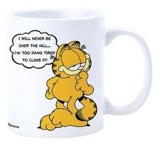 Garfield Tasse Over The Hill