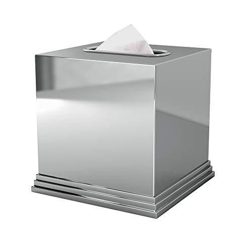 polished chrome tissue box cover - 4