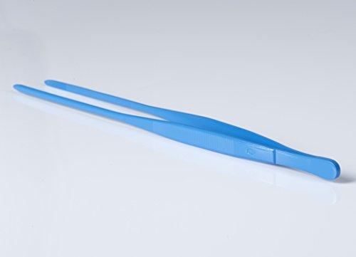 RSG Solingen Pince à Barbecue, Pince à épiler, réversible Pince à épiler de Cuisine, Acier Inoxydable (antiadhésif), qualité Premium, Couleur : Bleu, 30 cm