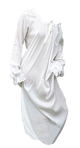 Unterkleid - Mittelalterkleid - Nachtgewand, natur aus Baumwolle - Wikingerkleid - Mittelalter Larp Wikinger Kleid