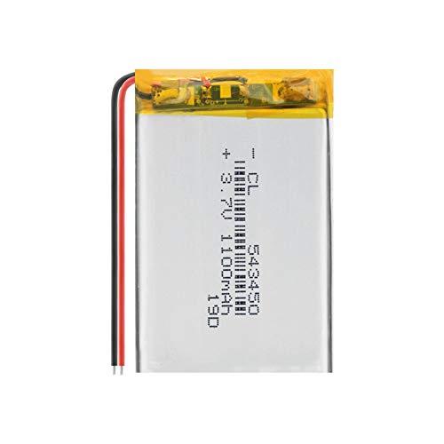 Batería recargable de litio de polímero de litio 503450 523450 de 1100 mAh para teléfono inteligente, DVD, MP3, MP4, lámpara LED, 2 unidades