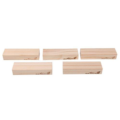 F Fityle Holz Namesschild Fotohalter Platzkartenhalter Kartenhalter Platzkarte Büro Memohalter Hochzeit Sitzkartenhalter - 10x3x1.8cm