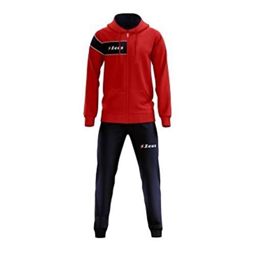 Zeus Clio Trainingsanzug für Herren, für Sport, Training, Schule, Mitarbeiter, Entspannung, Fußballuniform, Rot und Blau, Unisex, für Erwachsene, Mädchen, Baby, Herren, Blau-Weiß