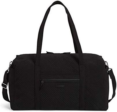 Vera Bradley womens Microfiber Large Duffle Travel Bag Black One Size US product image