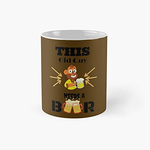 Get An Old Guy A Beer Classic Mug - Ceramic Coffee White (11 Ounce) Tea Cup Gifts For Bestie, Mom And Dad, Lover, Lgbt