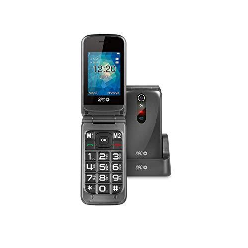 Spc Stella Teléfono Móvil con Números y Letras Grandes, Titanio ✅