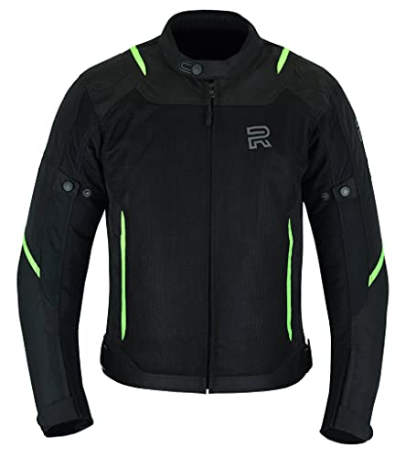 RAXUS Chaqueta Moto Verano Para Hombre-Track CoolPro, Homologada CE (FLUOR, 2XL)