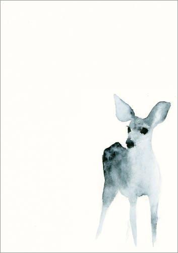 Posterlounge Acrylglasbild 13 x 18 cm: REH von Dearpumpernickel - Wandbild, Acryl Glasbild, Druck auf Acryl Glas Bild