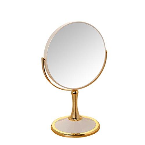 Zfggd Miroir grossissant de Maquillage 5X, Miroir cosmétique Double de Miroir de vanité dégrossi de Rotation 360 ° (Couleur : Blanc, Taille : 8 inches)