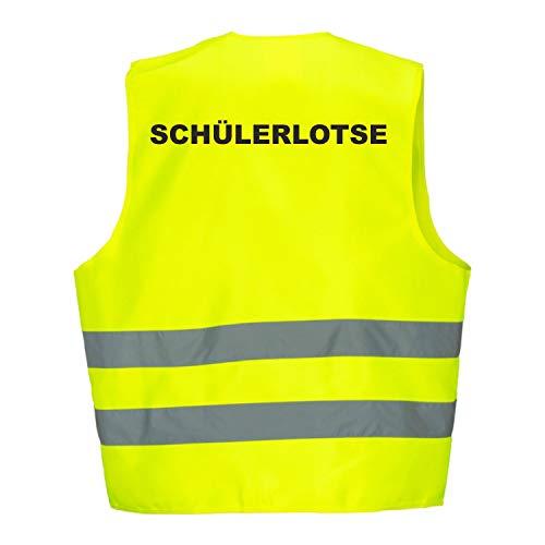 Fassbender-Druck Warnweste GELB Sicherheitsweste Weste Schuelerlotse (Schuelerlotze 1 Weste)