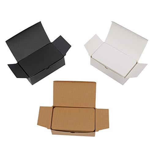 Blanko Karten 300 Stück Farbige Craft Papier Memo Pad Postkarten für DIY Nachricht Geschenk Tags 9 x 5.4 cm (Weiß/Schwarz/Kraftpapier)