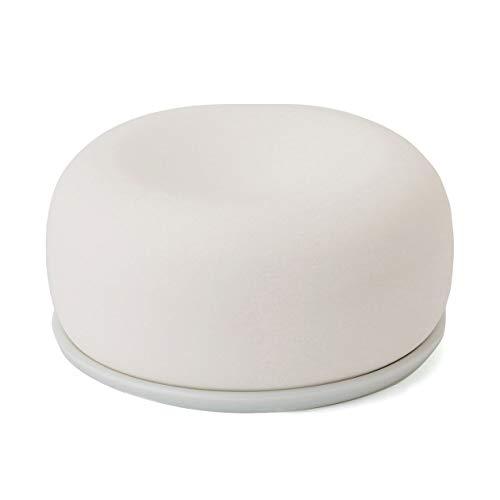 無印良品 アロマストーン 皿付・白 02868284