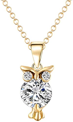 NC83 Zircon Pendant Owl Necklace for Women Heart Necklaces Jewelry Gift